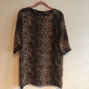 Zara Leopard Print Mini Dress